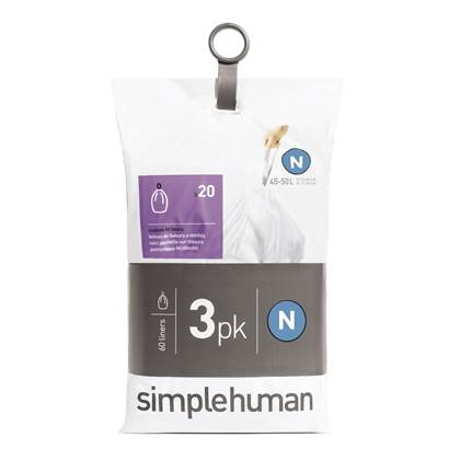 Simplehuman Code N Pocket Liners Afvalzakken 45-50 Liter - 60 zakken