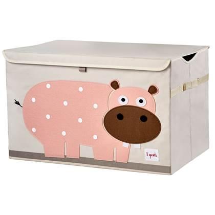3 Sprouts Nijlpaard Speelgoedkist 61 x 38 cm