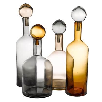 Pols Potten Bubbles Bottles Chic Karaffen Set van 4