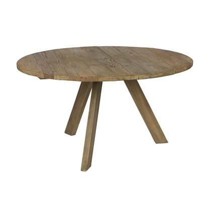 BePureHome Tondo eetkamertafel hout Ø 140 cm Oud hout