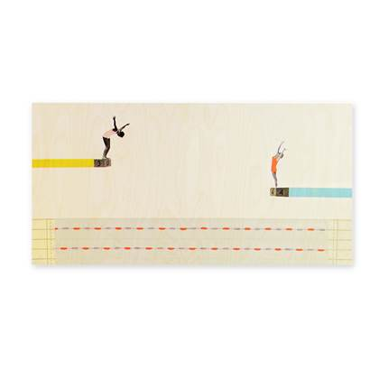 StoryTiles StoryWood The Diving Spectacle Wanddecoratie 150 x 75 cm