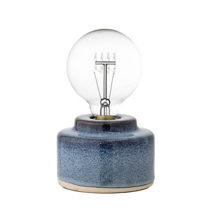 Bloomingville Tafellamp Porselein 9 x Ø12 cm Blauw