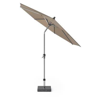 Platinum Riva parasol 250 cm rond taupe met kniksysteem
