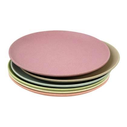 duurzaam product: Zuperzozial Take The Cake Gebaksbord Bamboe à 18 cm/Set van 6