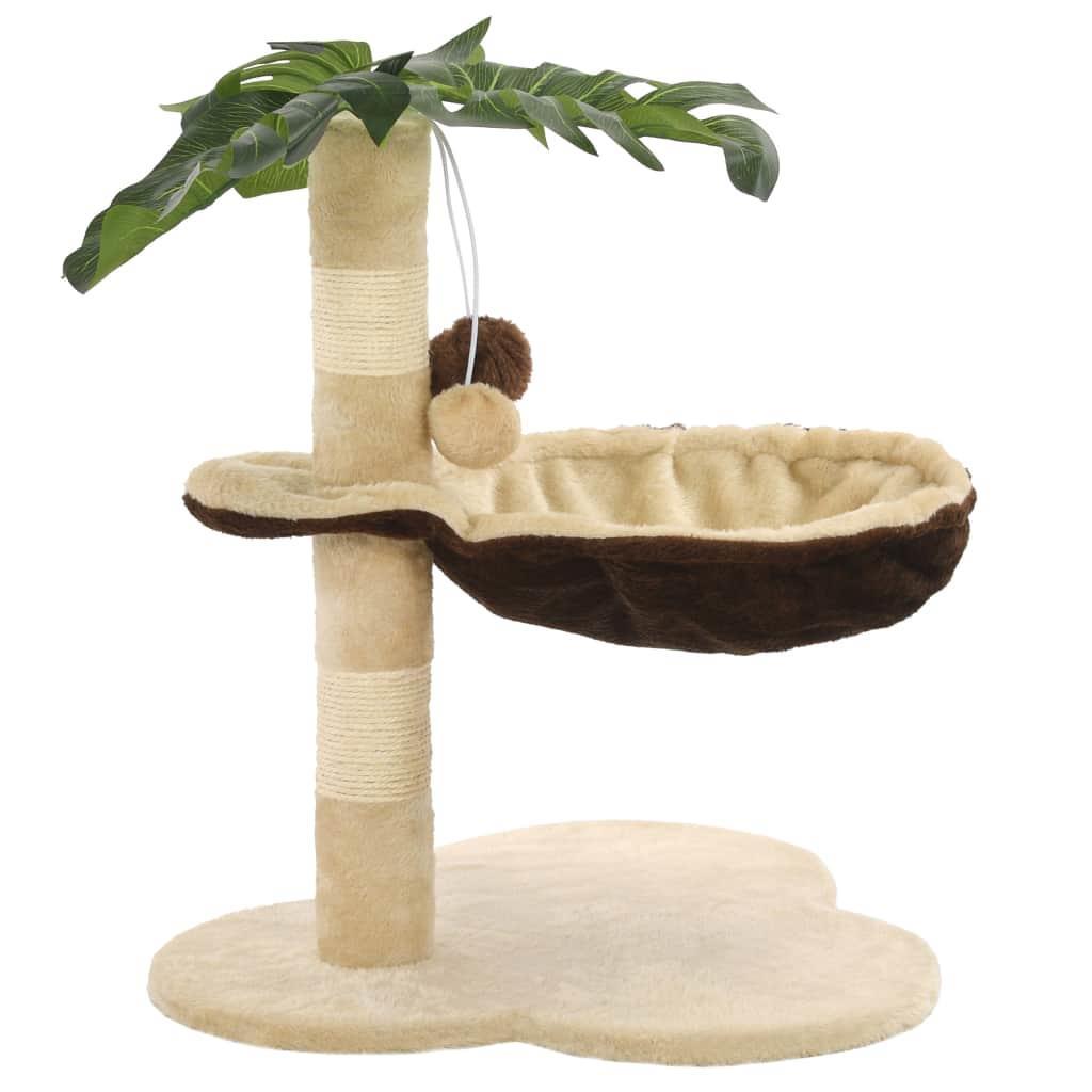 FonQ-vidaXL Kattenkrabpaal met sisal krabpaal 50 cm beige en bruin-aanbieding