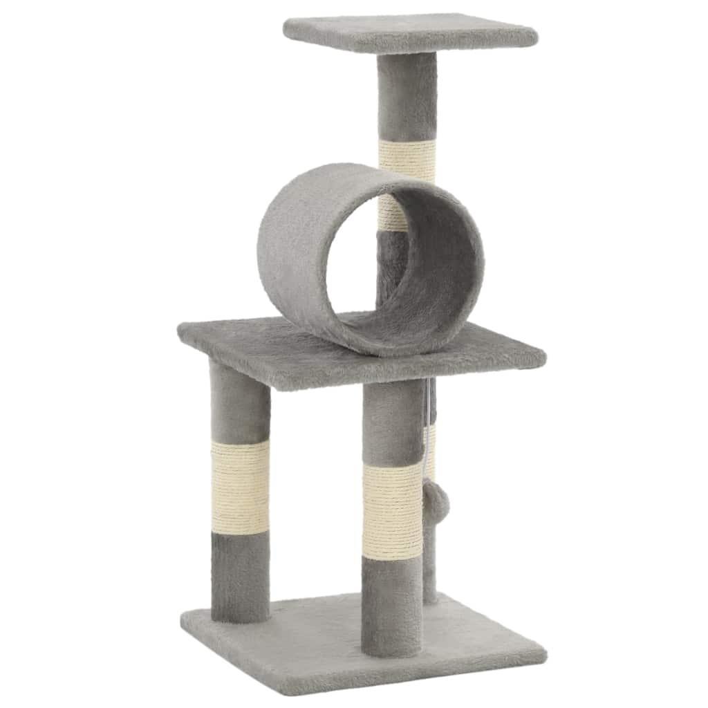 FonQ-vidaXL Kattenkrabpaal met sisal krabpalen 65 cm grijs-aanbieding