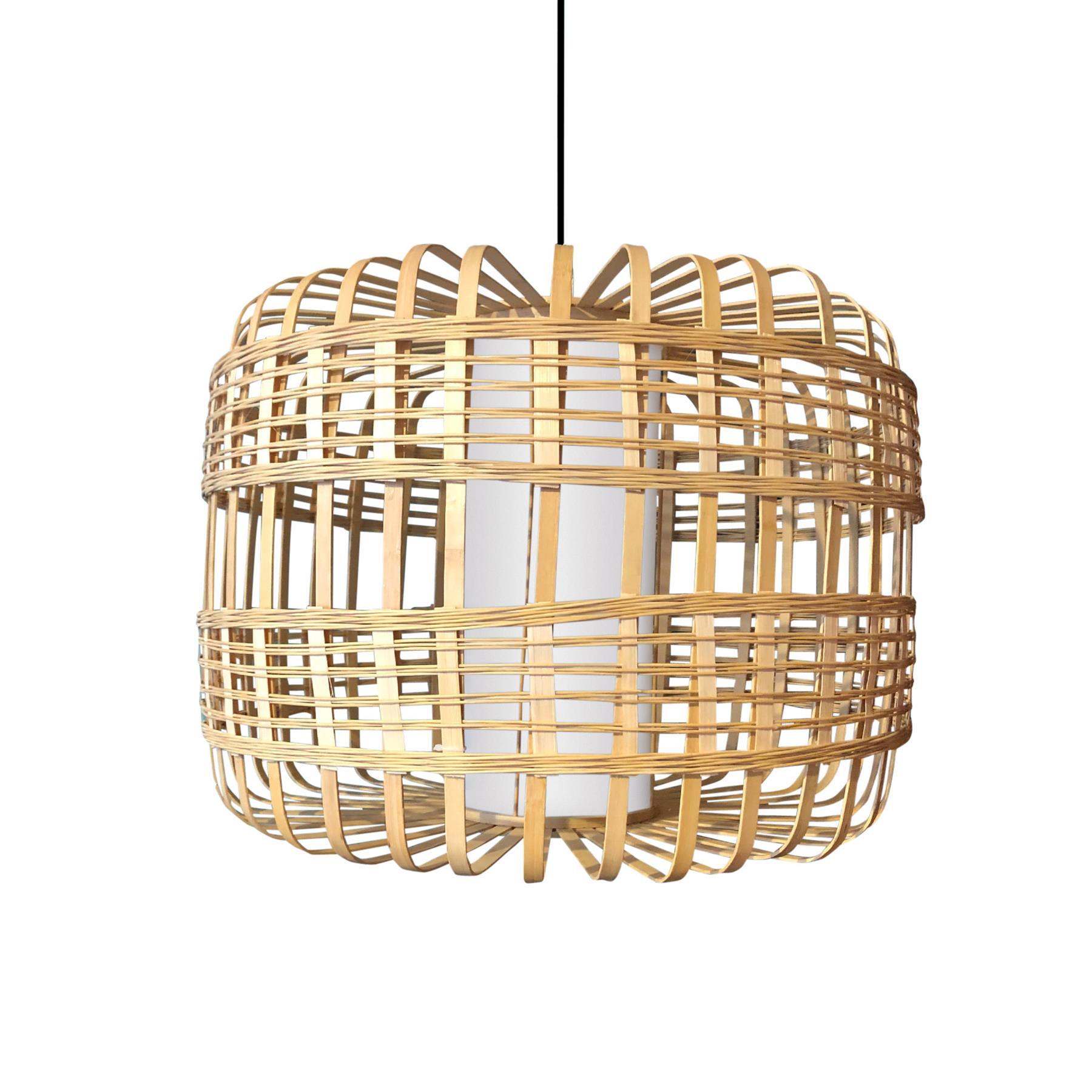 FonQ-Fine Asianliving Bamboe Hanglamp Handgemaakt - Brittany-aanbieding