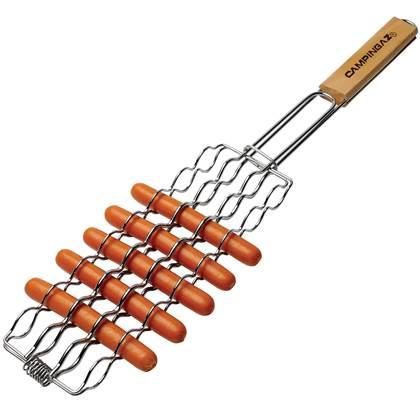 De Feestdagen | Met deze worstenklem van Campingaz bereid je eenvoudig worstjes op de barbecue. Door de klem op tijd te draaien zullen de worsten aan beide kanten worden gebruind. Na gebruik kan de worstenklem eenvoudig schoon gemaakt worden.