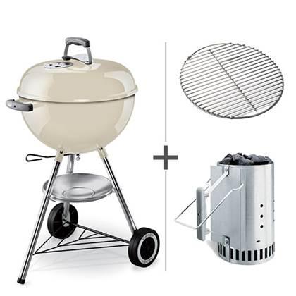 De Feestdagen | De Weber One Touch Original is een zeer complete houtskoolbarbecue. De barbecue is o.a. voorzien van een dekselthermometer, asopvangschaal, verbeterde wielen en het unieke 'One-Touch' reinigingssysteem. Nu geleverd met brikettenstarter!