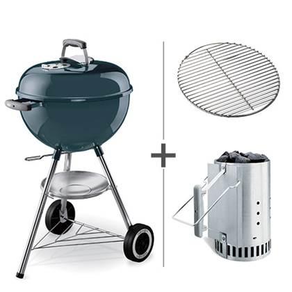 De Feestdagen | De Weber One Touch Original is een zeer complete houtskoolbarbecue. De barbecue is o.a. voorzien van een dekselthermometer, asopvangschaal, verbeterde wielen en het unieke 'One-Touch' reinigingssysteem. Nu geleverd met gratis brikettenstarter!