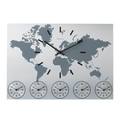 Karlsson Wandklok World Time