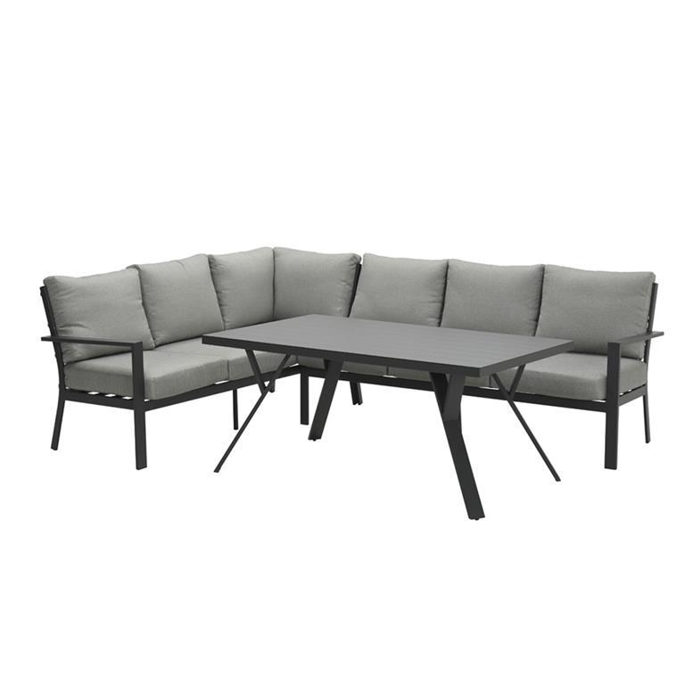 FonQ-Garden Impressions Senja lounge dining set 3-delig links - d. grijs-aanbieding