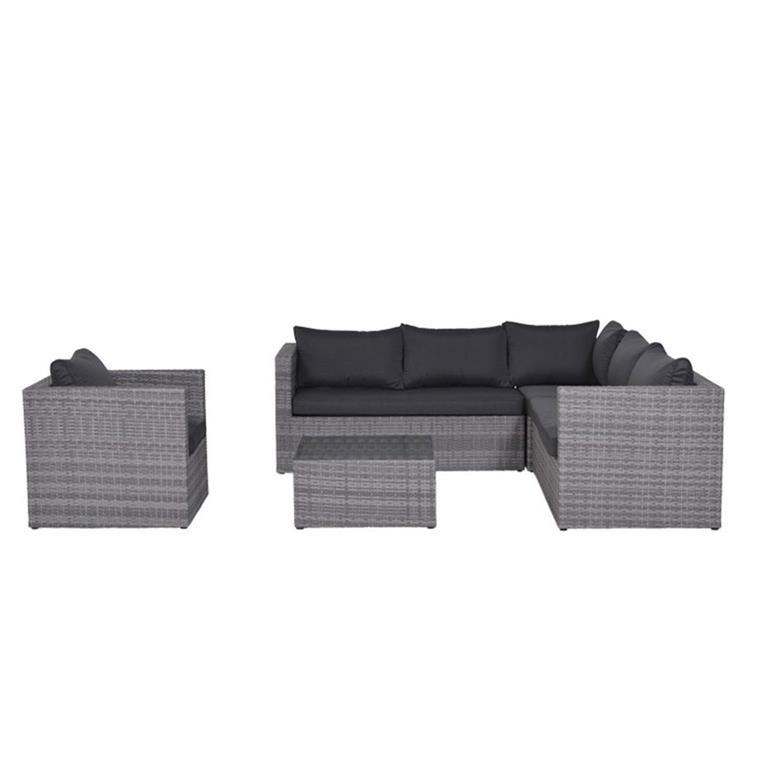 FonQ-Garden Impressions Lyon loungeset 5-delig - grijs-aanbieding