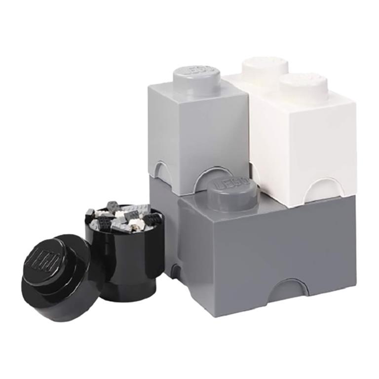 FonQ-LEGO Opberg Brick Set van 4 - Grijs-aanbieding