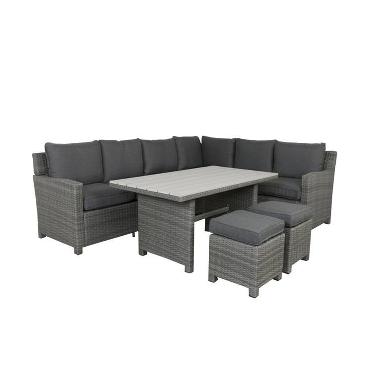 FonQ-VDG Cordoba lounge diningset - Rechts-aanbieding