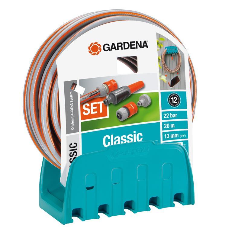 FonQ-Gardena Classic Muurhouder met tuinslang 20 m-aanbieding