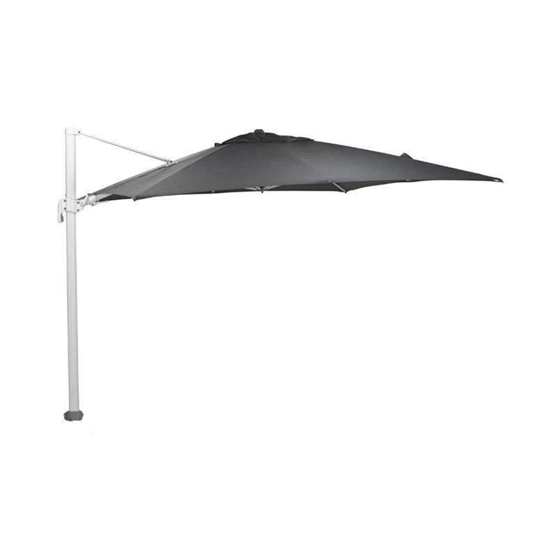 FonQ-Garden Impressions Hawaii Big Pole parasol 350x350 - wit - d. grijs-aanbieding