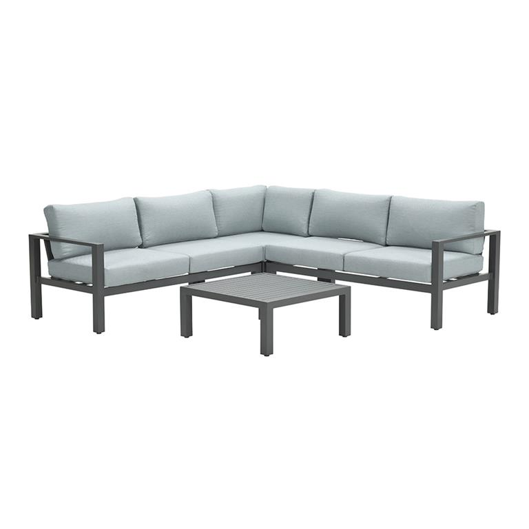 FonQ-Garden Impressions Fora loungeset 4-delig - mint grijs-aanbieding